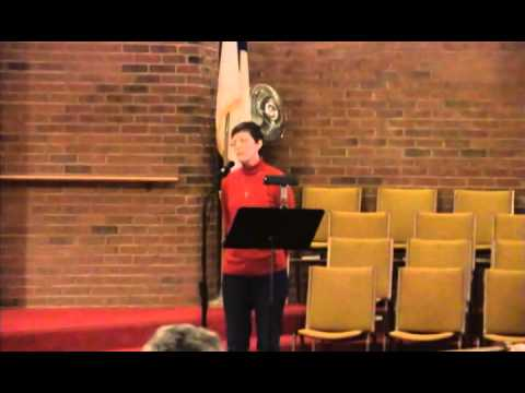 Solo by Donna Pool, He Came Here For Me, Heritage Baptist Church, 1/05/14, Annapolis, Maryland
