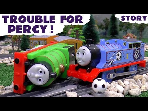 Thomas and Friends Accident Soccer Football Match Trouble For Percy Red vs Blue Thomas Toys Story