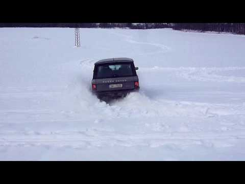 Range rover classic snow driving