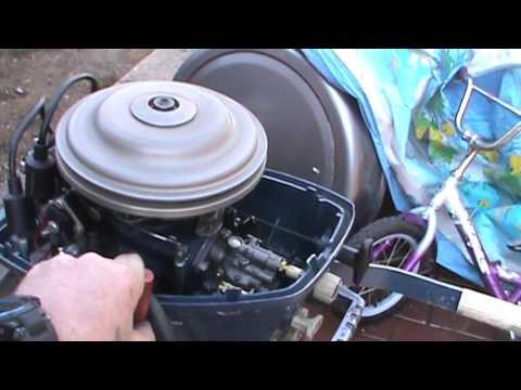 можно ли обкатать лодочный мотор в бочке видео