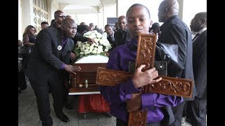 Bruce Odhiambo's ailing mother wheeled to church for son's memorial service     Kenya news today
