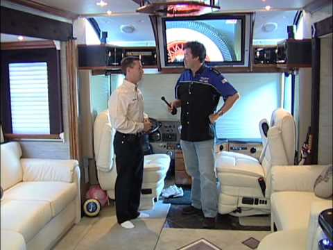 A tour of John Andretti's luxury coach