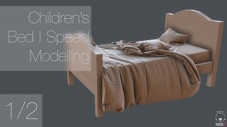 Children's Bed | Speed Modelling | Part 1/2 (Maya, Marvelous Designer)