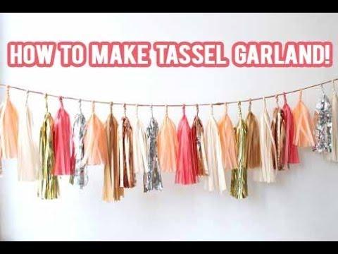 DIY How to make a Tassel Garland Banner!   NicoleMatthews