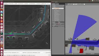 Local path planning and following using Gazebo with Autoware