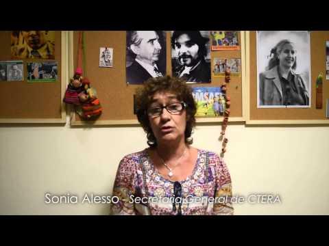1º DE MAYO: PALABRAS DE SONIA ALESSO - SECRETARIA GENERAL DE CTERA -