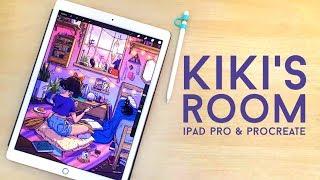 Kiki's Room Process with Ipad Pro and Procreate // Jacquelin deleon