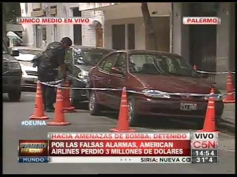 C5N - POLICIALES: HACIA AMENAZAS DE BOMBA AL AEROPUERTO DE EZEIZA