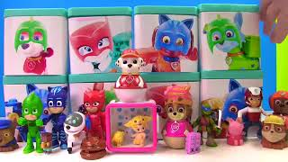 Paw Patrol Turn into PJ Masks Surprise Toy Blind Boxes Disney & Nick Jr. Candy & Slime