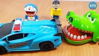 Thế Giới Đồ Chơi Doremon -  Nobita bắt con rắn ăn cắp quả trứng của cá sấu