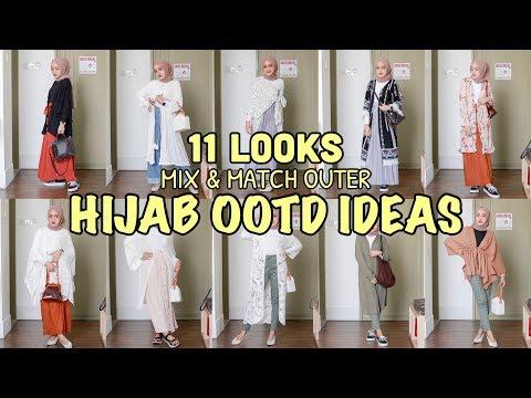 MIX & MATCH OUTER   11 LOOKS OOTD IDEAS 2019 #04 (Indonesia)   Seviq Febinita - YouTube