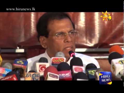 Hiru Tv - SLFP General Secretary Maithripala Sirisena nominated as the Common Candidate