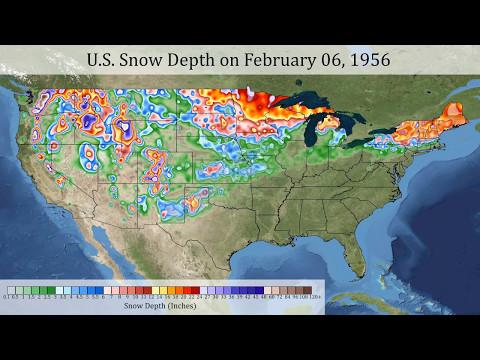 Daily U.S. Snow Depth 1950-2015