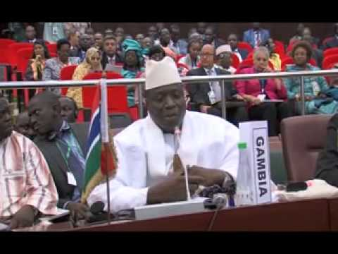 President Jammeh's Intervention during the 23rd AU Summit in Malabo