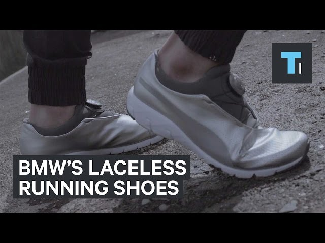 BMW designed laceless running shoes that use car technology