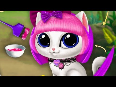 Game For Boy And Girl Baby Jungle Animal Hair Salon Beauty Spa, Baby Kitten Care