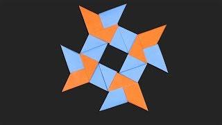 Easy Origami Ninja Stars 4 points - How to make