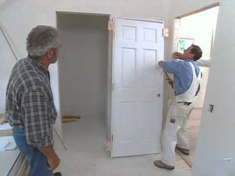 How to install interior door modern colonial bob vila - How to install a prehung exterior door ...