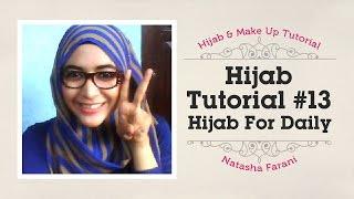 Tutorial Hijab Paris Segiempat Square Scarf Natasha Farani Tutorial ...