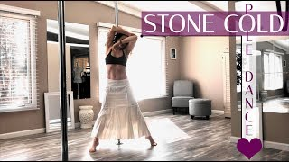 Stone Cold : Pole Dance Warmup In Skirt