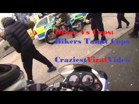 Bikes Vs Cops Compilation Bikes VS Cops Bikers taunt