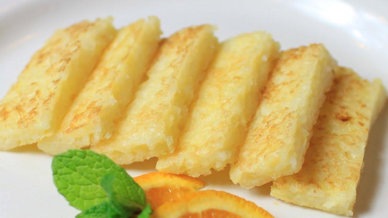 Fried Rice With Egg Pancake Recipe Youtube