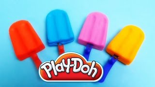 Play-Doh Ice Cream Popsicle Surprise Eggs   Monsters, SpongeBob & Hello Kitty