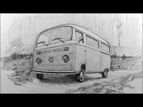 VW Bus Drawing Lesson