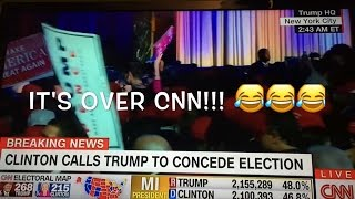 Download The moment CNN realizes the election is OFFICIALLY over.  Trump wins!!!! 3Gp Mp4