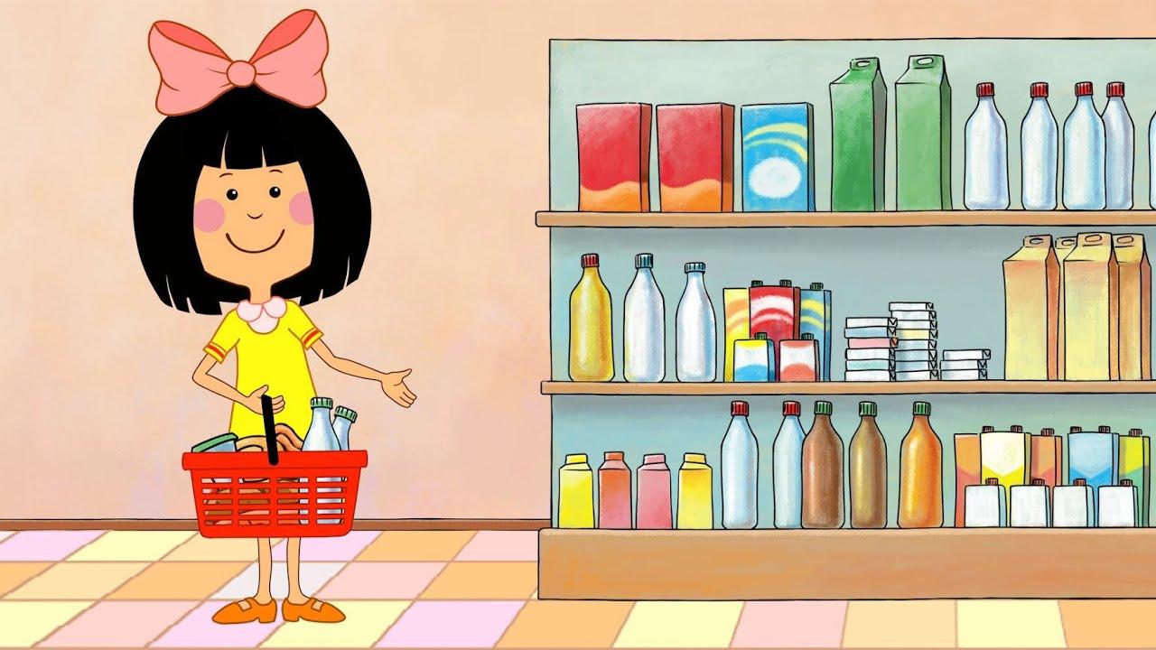 Ребенок в магазине рисунки