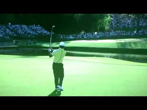 Tiger Woods Masters Hits Pin Ends Up In Water
