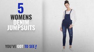 Top 10 Womens Denim Jumpsuits [2018]: Broadstar Women Denim Blue Dungarees