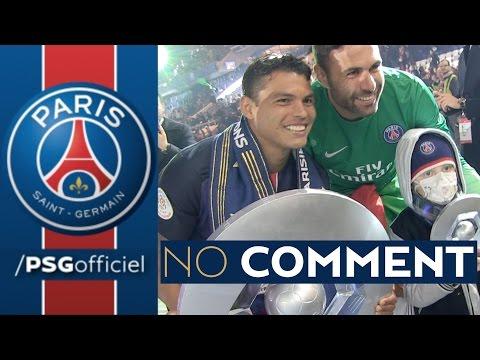 NO COMMENT CHAMPION DE FRANCE 2016 : CELEBRATION with Zlatan Ibrahimovic, Thiago Silva