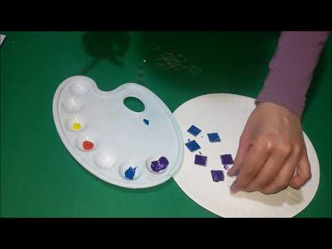 How to make colors mosaic out of cds