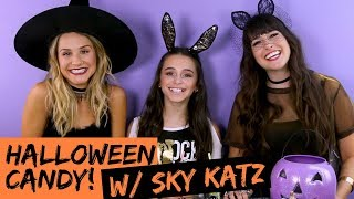 Weird Halloween Candy Taste Test With Sky Katz (TRY THE TREND) | Hollywire