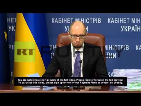 Ukraine: Yatsenyuk spurns Poroshenko's deal for a more inclusive government