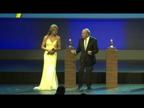 Sepp Blatter Grandad Dancing with Fernanda Lima