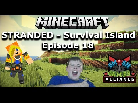 STRANDED - Diamond Party!!  - (Minecraft: Survival Island) - Ep. 17