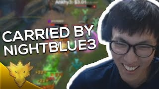 Doublelift - CARRIED BY NIGHTBLUE3! - League of Legends Season 8 Highlights