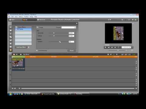 Pinnacle Studio 14 Tutorial - How to rotate a video