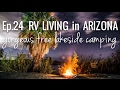 [RV Life & Travel] Ep. 24 RV Living in Arizona || Gorgeous Free Lakeside Camping