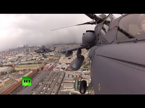 'Dashcam' video: Moscow's Victory Day parade from cameras placed on tanks & helicopters