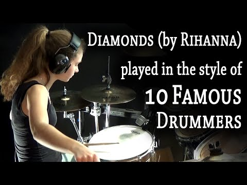 Sina playing in the style of 10 great drummers