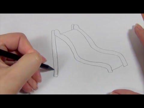 Видео как нарисовать горку карандашом поэтапно