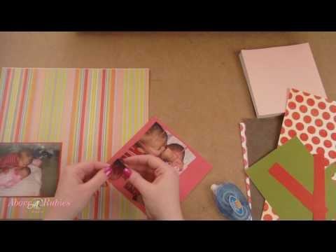 Paper Pieces Love 2 Pieces Scrapbook Layout Video