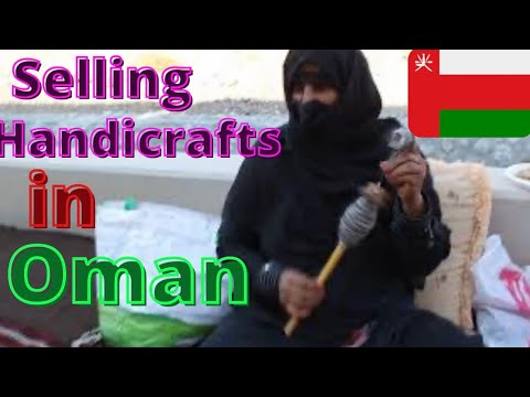 Traditional Omani Lady Who Makes and Sells Handicrafts (from Suwaiq, Oman)