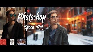 Photoshop Speed Art.    Before the new year 2018