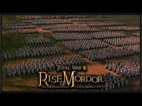 EPIC Elves Vs Dwarfs River Ambush - Total War: Rise Of Mordor Gameplay