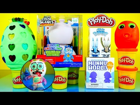 Color Changing Light Up Figure How To Draw Rose Arts Kidrobot Play Doh Surprise Eggs Toys Play Dough klip izle