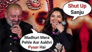 Sanjay Dutt Cute Reaction Makes Madhuri Dixit Blush At Kalank Teaser Launch